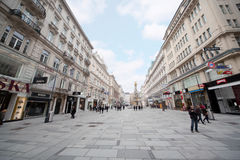 People go on Graben street Stock Image