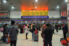 People go home during Chinese New Year Stock Image