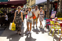 Free People Go Shopping In The Afternoon Sun In Lincoln Road Stock Photography - 50441512