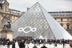 People go to famous Louvre museum on April 27, Stock Photos