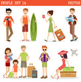 People go to holiday. Royalty Free Stock Photos