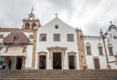 People go to visit the old church of Rio de Janeiro Royalty Free Stock Photo