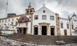People go to visit the old church of Rio de Janeiro Stock Photos