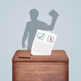People go to vote in elections. Illustration of people go to vote in elections royalty free illustration