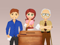 People go to vote in elections. Illustration of people go to vote in elections vector illustration