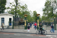 People go to the zoo of artis amsterdam Royalty Free Stock Photo