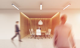 People going to conference room Royalty Free Stock Photos