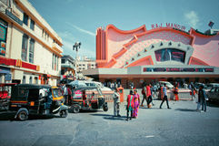 People going to a famous movie theater Raj Mandir Stock Images