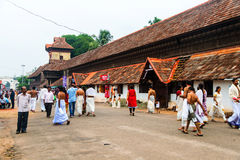 People going to the Sree Padmanabhaswamy Temple, Trivandrum Stock Image