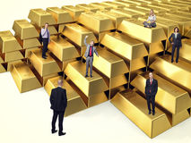 People on gold Stock Images