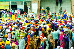 People at Golden Temple royalty free stock photo