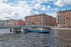 People on The Gorstkin Bridge. St. Petersburg. Russia Royalty Free Stock Image