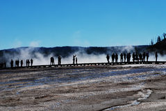 People at Grand Prismatic Royalty Free Stock Photos