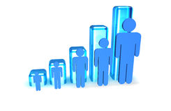 People Graph Royalty Free Stock Images