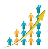 People Graph Showing Growth illustration Stock Photography