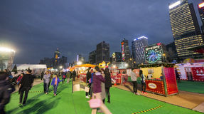 People at The Great European Carnival 2014, Hong Kong Royalty Free Stock Image