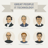 People. Great people in the field of IT technologies (avatar color Stock Image