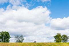 People in green field Royalty Free Stock Photography