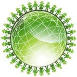 People Green Globe Icon vector illustration