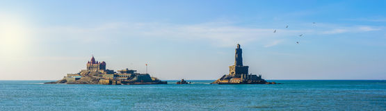 People greet the sunrise in Kanyakumari. The southernmost point of the Indian subcontinent, Tamil Nadu, India stock image