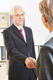 People greeting at team meeting Royalty Free Stock Photography