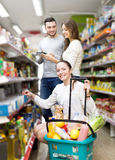 People at the grocery store Royalty Free Stock Images