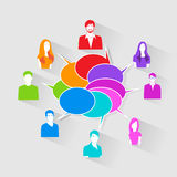 People Group Chat Social Network Communication Royalty Free Stock Image