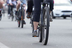 People group of cyclists Royalty Free Stock Image