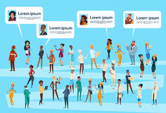 People Group Different Occupation, Employees Workers Social Network Profile Royalty Free Stock Images