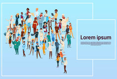People Group Different Occupation Set, Employees Mix Race Workers Banner. Flat Vector Illustration Royalty Free Stock Photos