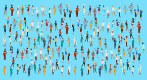 People Group Different Occupation Set, Employees Mix Race Workers Banner. Flat Vector Illustration Royalty Free Stock Photo
