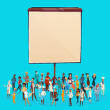 People Group Different Occupation Set, Employees Mix Race Workers Banner. Flat Vector Illustration Stock Image
