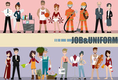 People Group Different Occupation Set, Employees Mix Race Workers. Professor,actresses,designer,lifeguard,pilot,air hostess stock illustration