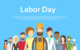 People Group Different Occupation Set, International Labor Day Stock Photo