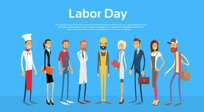 People Group Different Occupation Set, International Labor Day Stock Images