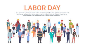 People Group Different Occupation Set, International Labor Day Stock Photography