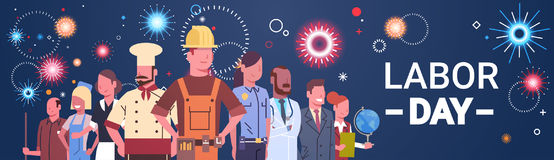 People Group Different Occupation Set, International Labor Day Stock Photos