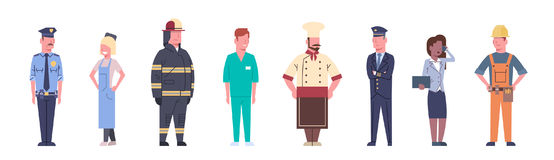 People Group Different Occupation Set Workers Profession Collection Royalty Free Stock Image