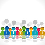 People group discussion Royalty Free Stock Image