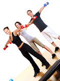 People group  doing fitness exercises Royalty Free Stock Image