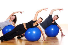 People group doing fitness exercises royalty free stock photography