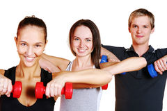 People group  doing fitness exercises Royalty Free Stock Photos