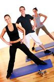 People group  doing fitness exercises Stock Image