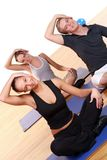 People group  doing fitness exercises Royalty Free Stock Photo