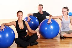 People group  doing fitness exercises Stock Images