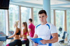 People group in fitness gym Stock Image