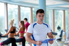 People group in fitness gym Royalty Free Stock Photo