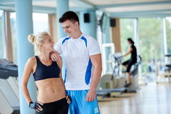 People group in fitness gym Stock Images
