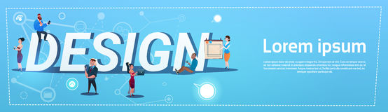 People Group With Gadgets Designers Team Design Concept Royalty Free Stock Image