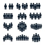 People group icon. Business person, team management and socializing persons silhouette icons vector set